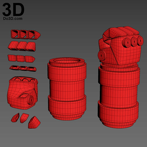 HellBoy Gauntlet Forearm, Glove, Finger Armors | 3D Model Project #1972