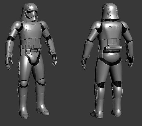 Captain Phasma Helmet + Armor Suit Star Wars | 3D Printable Model Project #32