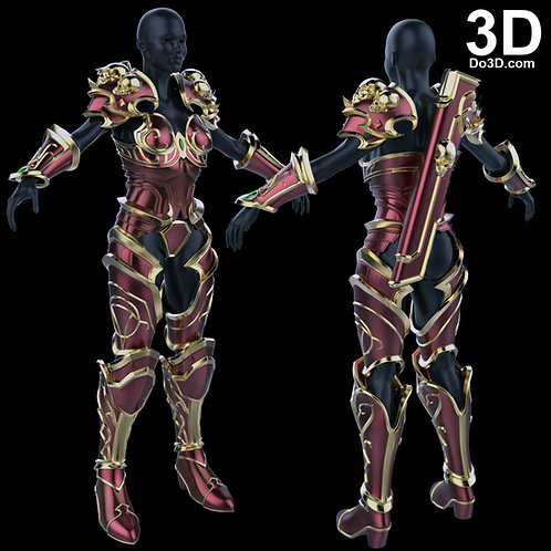 World Of WarCraft WOW Lady Sylvanas Windrunner Armor, 3D Project #1719