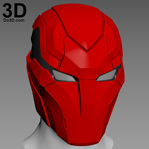 Red Hood Injustice 2 Variant Helmet 002 Cowl | 3D Model Project #4219