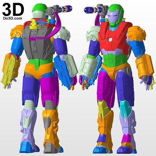 Iron Man Mark I Armor War Machine 001  MK 1 | 3D Printable Model STL File #795