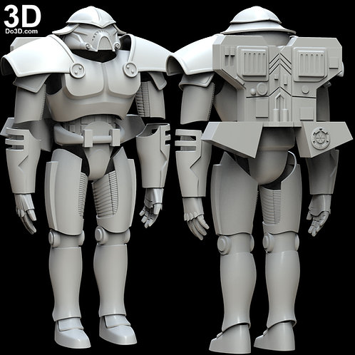 Star Wars Phase III 3 Dark Trooper Cosplay Armor Suit | 3D Model Project #5684