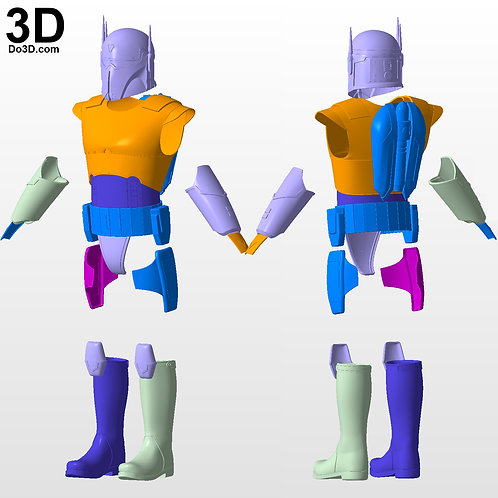Imperial Super Commando Gar Saxon Armor | 3D Model Project #3633