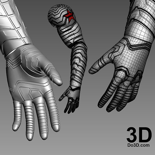 Winter Soldier Glove | 3D Printable Model Project #4472