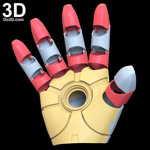 Universal Iron Man Glove with Hinges for MK 2 ~ MK 45 | 3D Model Project #N19