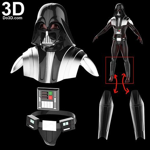 Darth Vader Helmet + Armor Star Wars Rebels   3D Model Project #3465