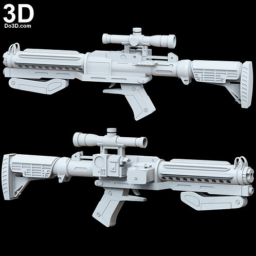 Captain Phasma F11-D Blaster Rifle Star Wars TFA | 3D Print Model Project #4804