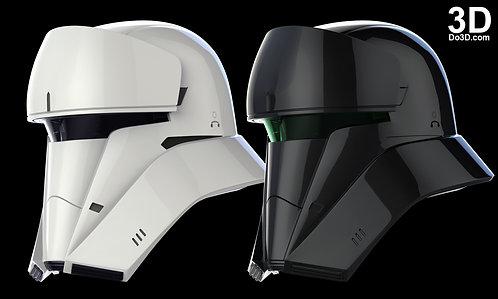 Hover Tank Trooper, Tanker, Commander Helmet Star Wars   3D Model Project #1073