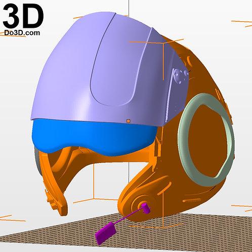 X-Wing Resistance Pilot Poe Dameron Helmet Star Wars TFA, 3D Model Project #244