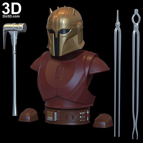 Armorer Mandalorian Blacksmith Armor | 3D Model Project #6279