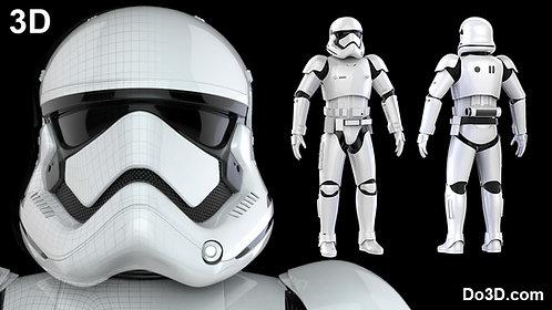 Stormtrooper First Order Armor + Helmet Star Wars TFA | 3D Model Project #45