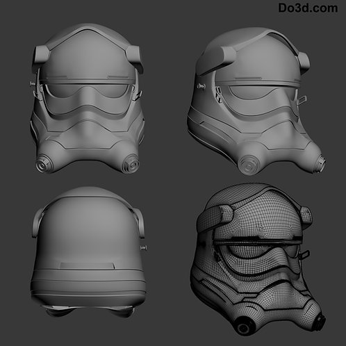 Tie Pilot Helmet from Star Wars VII: The Force Awakens  | 3D Model Project #34