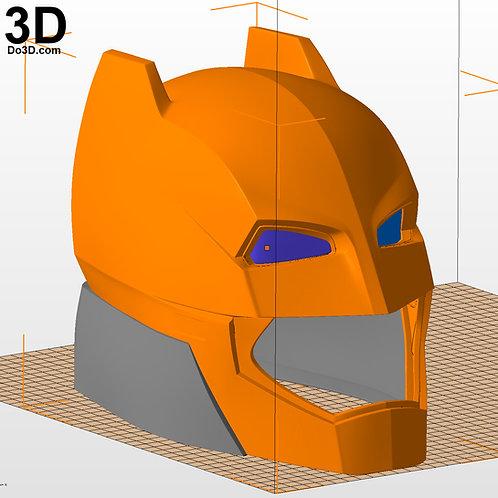 Armored Batman Helmet from BVS DOJ | 3D Printable Model Print File STL #B44