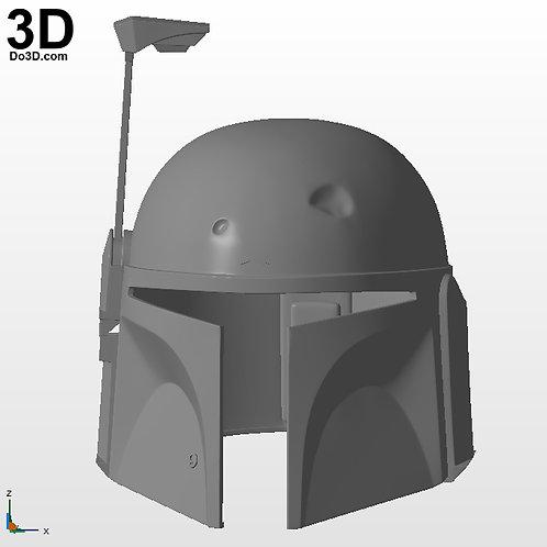 Boba Fett Star Wars Classic Helmet   3D Printable Model #BF1
