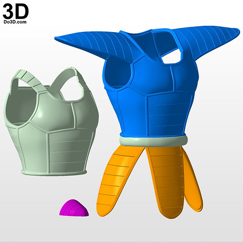 Vegeta Super Saiyan SS Goku Armor Dragon Ball Z | 3D Model Project #5780
