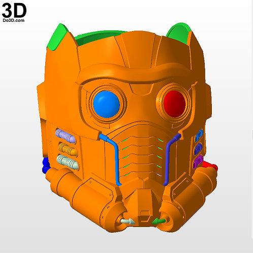 Star Lord Helmet Star-Lord Guardians of The Galaxy | 3D Printable Model #N30
