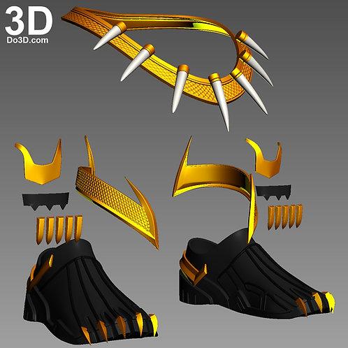 Golden Jaguar Erik Killmonger Necklace & Accessory | 3D Model Project #4367