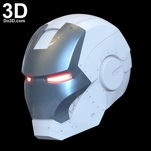 3D Printable Model: Iron Man Mark II Helmet (MK 2) Print File Format STL #N37
