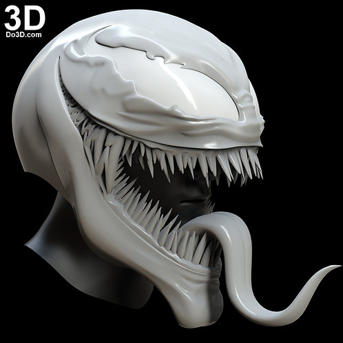 Venom 2018 Helmet Mouth Open / Tongue Out version | 3D Model Project #5075