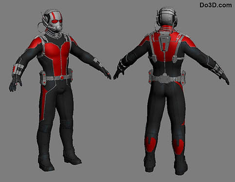 Ant-man Classic Armor Suit Hard Pieces and Piping Only | 3D Model Project #313