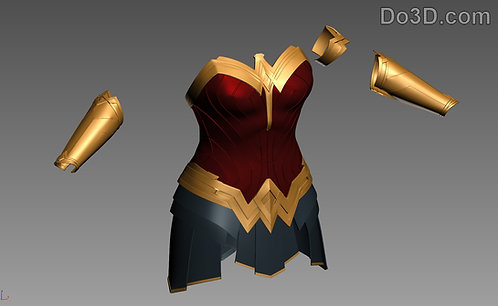 Wonder Woman Full Body Armor BVS DOJ | 3D Model Project #254