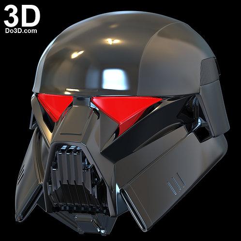 DarkTrooper Helmet Star Wars Mandalorian Dark Trooper | 3D Printable Model #DT46