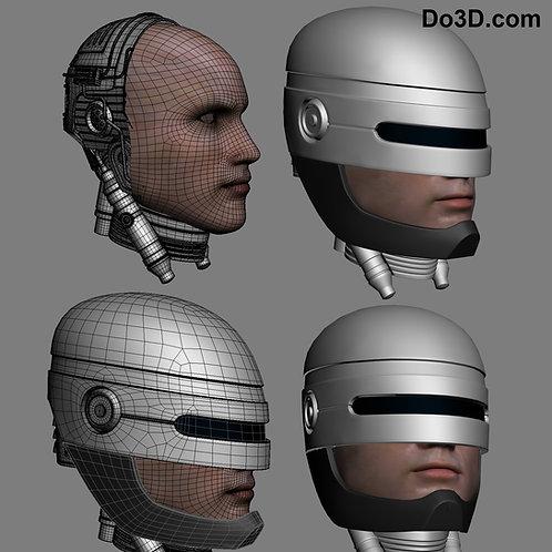 Robocop Helmet 1987   3D Printable Model #224