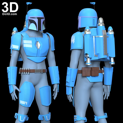 Death Watch Armor Jetpack Two Stripe Mandalorian 3D Model Project #6475