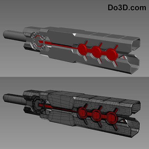 Mark III War Machine 003's Baton Weapon | 3D Printable Model Project #400