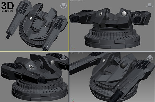 Batmobile BVS Cannon Machine Gun / Blaster | 3D Model Project #823