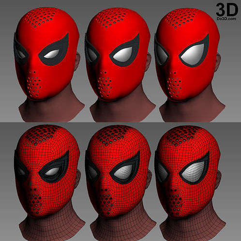 Spider-Man Homecoming Mask Face Shell Helmet cowl | 3D Model Project #1760