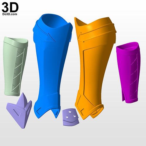 Roy Harper Arsenal Gauntlet Boots Forearm, Shin | 3D Printable Model #4490