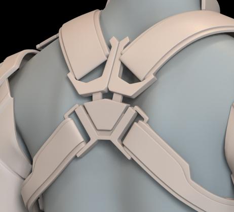 Captain America Endgame Back BUCKLE Only | 3D Model Project #N41