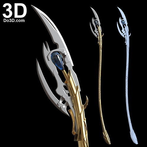 3D Printable Model: Loki Chitauri Scepter Staff Weapon | File Format: STL #2462