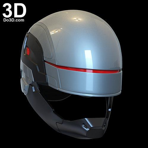 Robocop 2014 Silver Helmet | 3D Printable Model Print File STL #R14