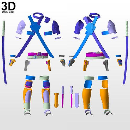 Deadpool Body Armor / Hard Pieces and Katana Sword and Case 3D Project #4685