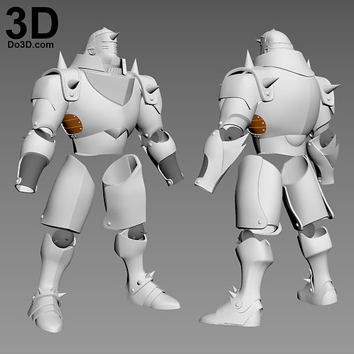 Real Action Heroes No.544 Alphonse Edward Elric Armor, 3D Model Project #3480