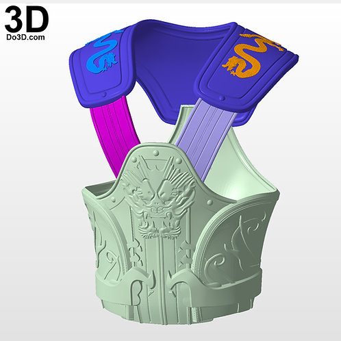 The Dragon's Shadow Destiny 2 Exotic Hunter Chest Armor, 3D Project #4328