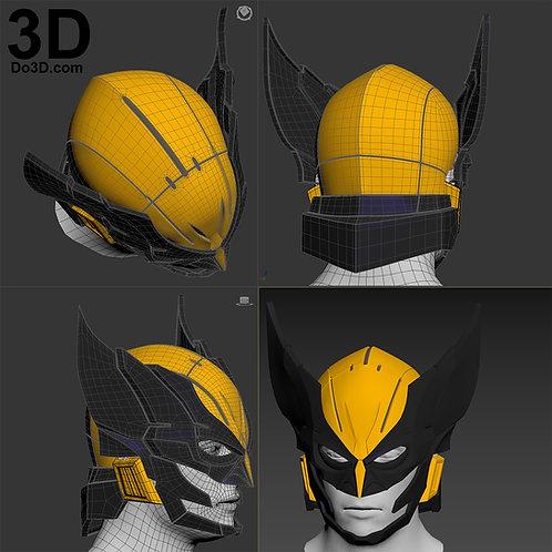 X-Men Wolverine Variant Play Arts Kai Logan Helmet | 3D Model Project #1997