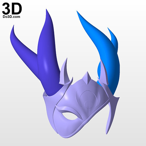 Blood Moon Sivir Helmet Mask + Horns League of Legends | 3D Model Project #5700