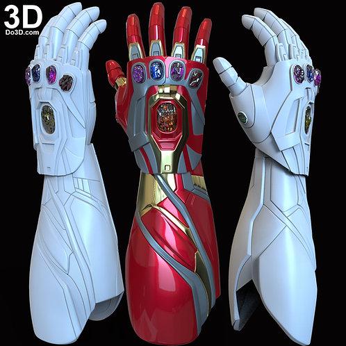 Iron Man Mark LXXXV MK 85 Nano Infinity Gauntlet | 3D Model Project #N03