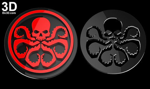 Hydra Logo Emblem Stencil Captain America  | 3D Model Project #846