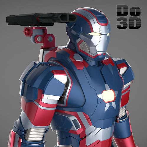 Iron Man Patriot Armor Suit Classic | 3D Printable Model Project #36
