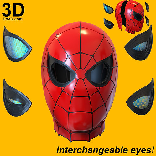3D Printable Model: Iron Spider Spider-man Face Shell Helmet Format: STL #4544