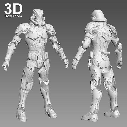 Variant Star Wars Stormtrooper Full Body Armor Suit   3D Model Project #1066