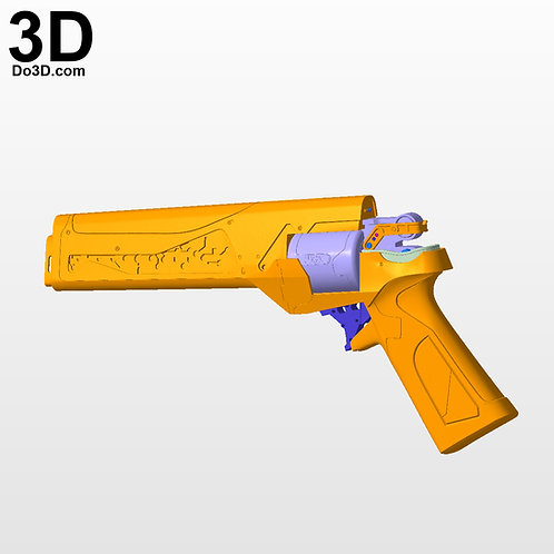Judgement Trials of the Nine Hand Cannon Destiny Gun | 3D Model Project #3375