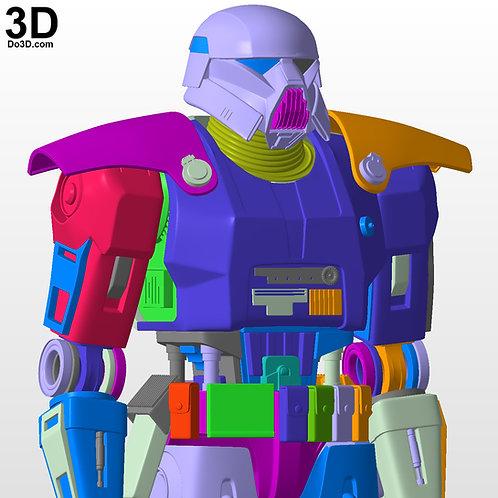 DarkTrooper Full Bod + Helmet Star Wars Mandalorian   3D Printable Model #DT001
