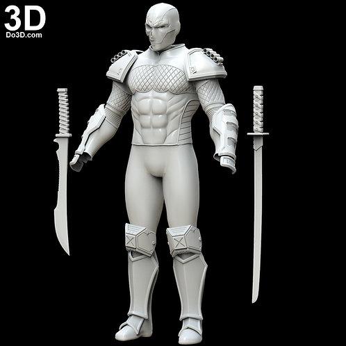 DeathStroke Prime 1 Skull Armor set | 3D Model Project #5429