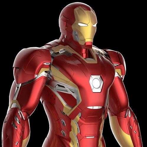 Iron Man Mark XLV Helmet + Armor MK 45 | 3D Printable Model Project #47