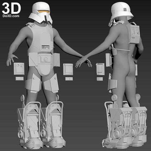 Range Trooper Helmet, Armor, and Boots Star Wars | 3D Model Project #4649